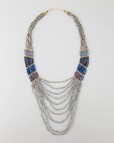 Nakamol Long Multi-Strand Beaded Necklace, Gunmetal/Blue/Purple