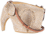 Loewe Elephant Metallic Suede Mini Crossbody Bag