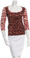Just Cavalli Printed Long-Sleeve Top