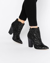 Little Mistress Harlow Glitter Ankle Boots