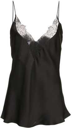 Anine Bing Taylor lace-trimmed silk cami top