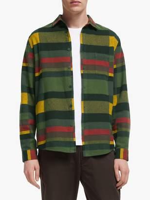 It's All Good Folk Check Print Long Sleeve Flannel Shirt, Multi Blanket