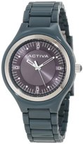 Invicta Activa By Women's AA201-008 Silver Grey Dial Grey Plastic Watch