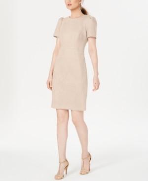Calvin Klein Faux-Suede Scuba Sheath Dress