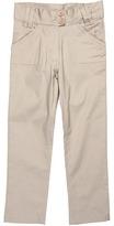 U.S. Polo Assn. Kids - Two-Button Waist Twill Pant (Little Kids) (Khaki) - Apparel