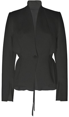 UNTTLD Mix Media Pleated Jacket