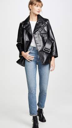 Toga Pulla Faux Leather Bonding Jacket