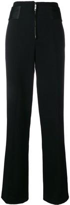 Victoria Beckham Wide Leg Tuxedo Trousers