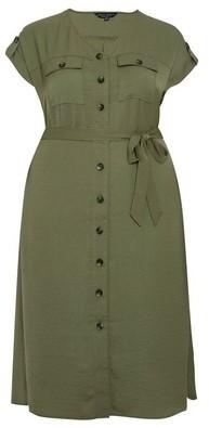 Dorothy Perkins Womens **Dp Curve Khaki Shirt Dress, Khaki