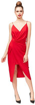 Betsey Johnson Racing Red Faux Wrap Dress