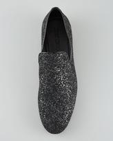 Jimmy Choo Sloane Glitter Slipper, Black