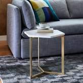 west elm Hex Side Table – Antique Brass