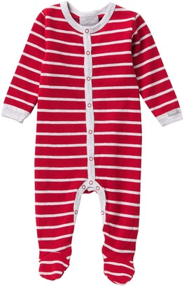 Coccoli Stripe Button Down Footie (Baby Girls)