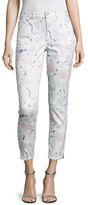 Paul Smith Print Curve And Coin Crop Jeans
