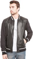 GUESS by Marciano Letterman Leather Jacket