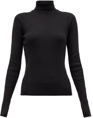 Reebok x Victoria Beckham Roll-neck Ribbed Wool-blend Top - Black