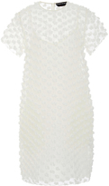 Rochas Popcorn Embellished Mini Shift Dress