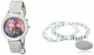Disney Girls' Quartz Watch with Rubber Strap Multicolor 13 (Model: FZN45044AZ)