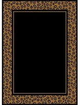 Dynamix Home Zone 7193-502 Polypropylene 5-Feet 2-Inch by 7-Feet 4-Inch Area Rug, Black