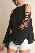 Umgee USA Elegant Embroidery Top