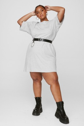 Nasty Gal Womens Never Crew Love Plus Tee Dress - Grey