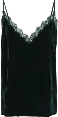 CAMI NYC The Zosia Lace-trimmed Velvet Camisole
