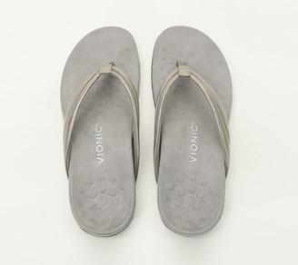 Vionic Metallic or Patent Thong Sandals - Raya
