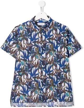Paolo Pecora Kids TEEN leaf print shirt