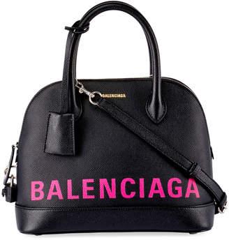 Balenciaga Ville Small AJ Logo-Stencil Leather Tote Bag