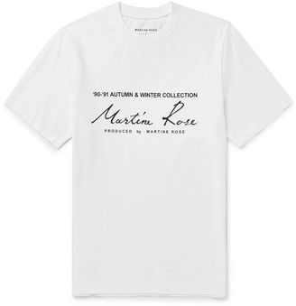 Martine Rose Printed Cotton-Jersey T-Shirt