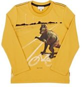Paul Smith Men's Dinosaur-Print Cotton Jersey T-Shirt-YELLOW