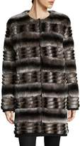 Yves Salomon Women's Quilted Rex Rabbit Fur Coat