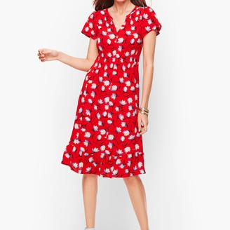 Talbots Flounce Hem Dress - Floral