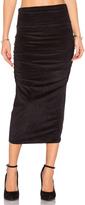 James Perse Velvet Midi Skirt