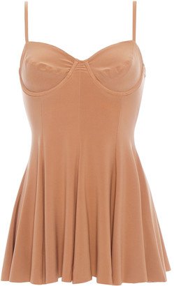 Norma Kamali Underwire Fluted Swim Dress