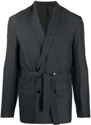 Lemaire Belted Double Breasted Blazer