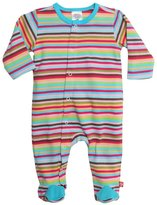 Zutano Super Stripe Footie (Baby) - Multicolor-Newborn