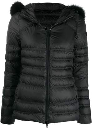 Peuterey fox fur hooded puffer jacket