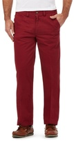 Maine New England Big And Tall Red Tailored Fit Chinos