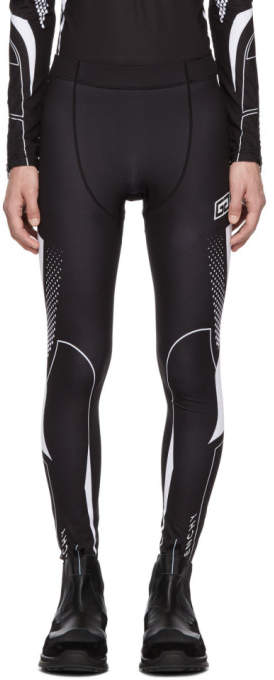 Givenchy Black and White Sporty Leggings