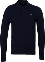 Cp Company Navy Long Sleeve Regular Fit Polo Shirt