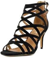 Report Kareena Women Open Toe Synthetic Black Sandals.