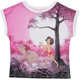 Disney Girl's Jungle Book-Marching-Kids T-White Track Jackets,(Manufacturer Size:Medium)