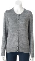 Croft & Barrow Women's Solid Button-Front Cardigan
