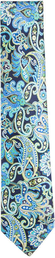 Countess Mara Men's Spruce Paisley Tie