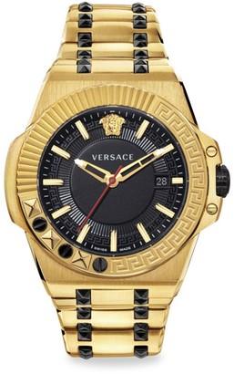 Versace Chain Reaction IP Yellow Gold Bracelet Strap Watch