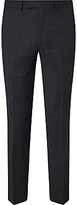 John Lewis Textured Super 100s Wool Tailored Suit Trousers, Charcoal