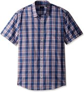 Arrow Men's Big-Tall Short Sleeve Sea Jack Seersucker Shirt