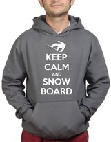 Customised Perfection Keep Calm and Snowboard - Ski Snow Loose Fit Hoodie M