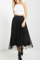 Soprano Black Tulle Midi Skirt